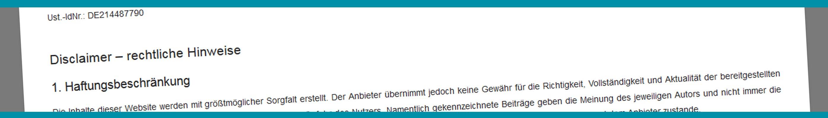 Impressum Firtz Reusch GmbH